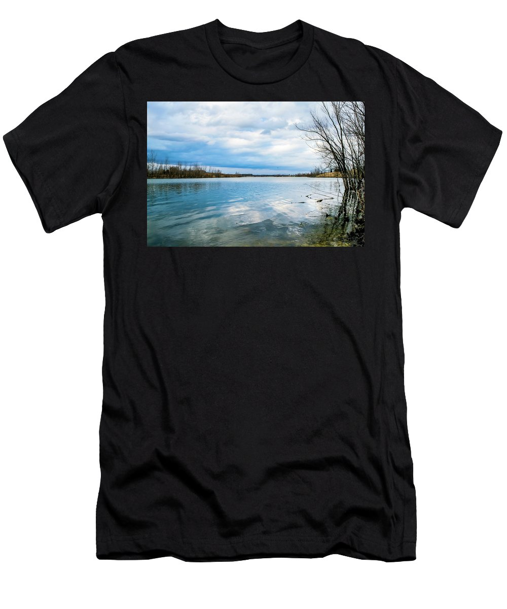 Water Men's T-Shirt (Athletic Fit) featuring the photograph Serenity by Heather Moore