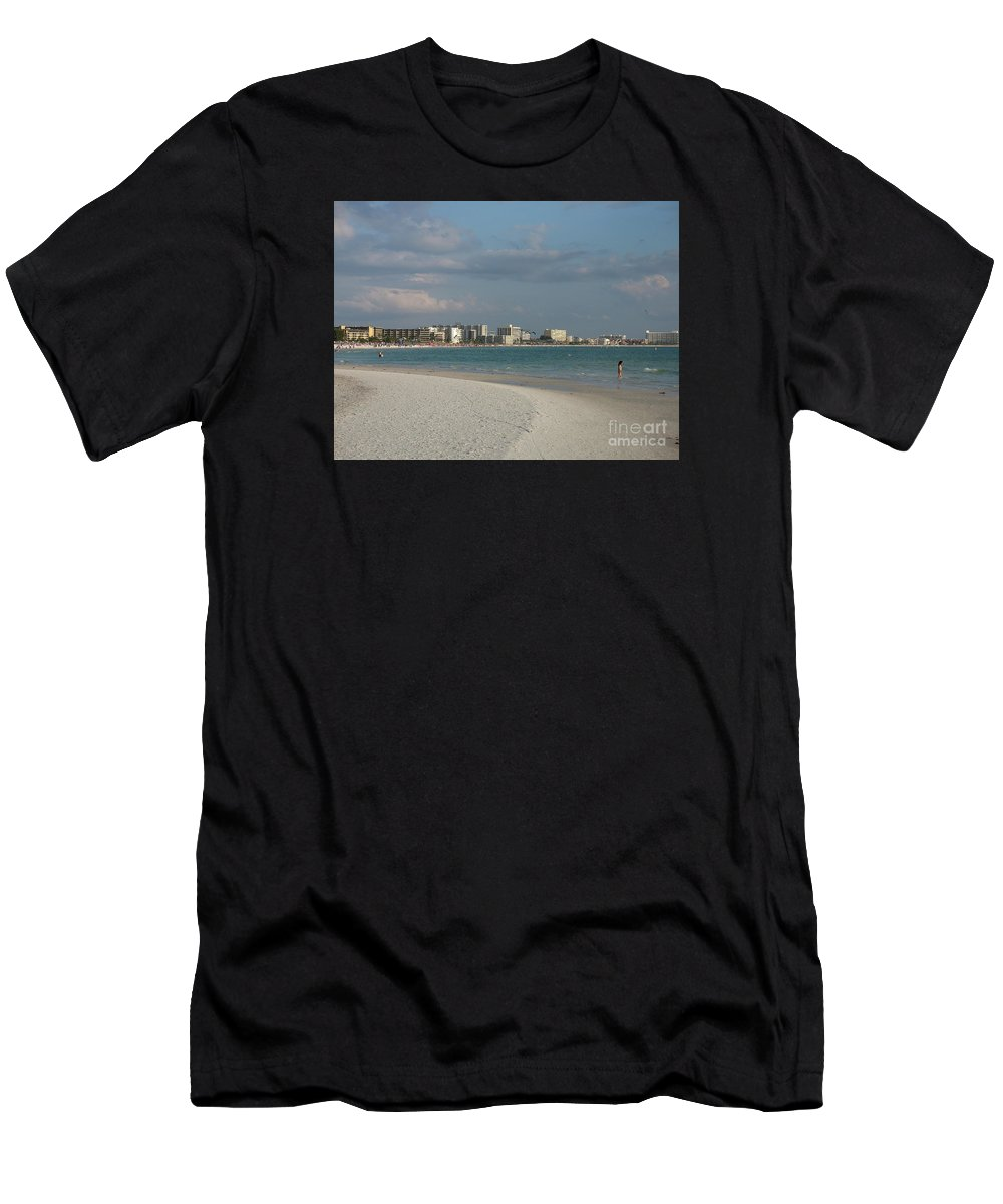 Beach Men's T-Shirt (Athletic Fit) featuring the photograph Siesta Key Beach by Christiane Schulze Art And Photography