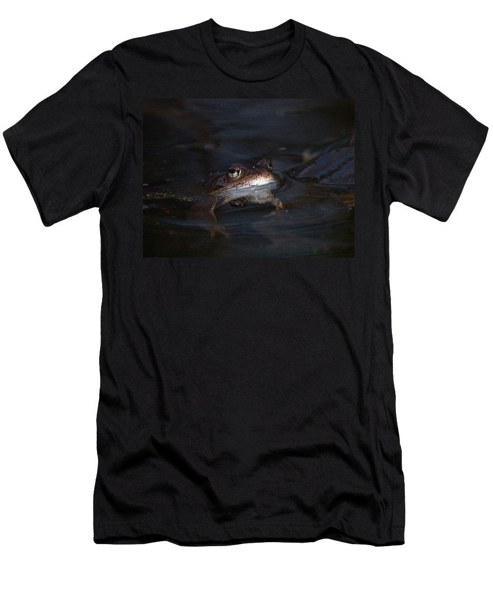 Lehtokukka Men's T-Shirt (Athletic Fit) featuring the photograph The Common Frog 1 by Jouko Lehto