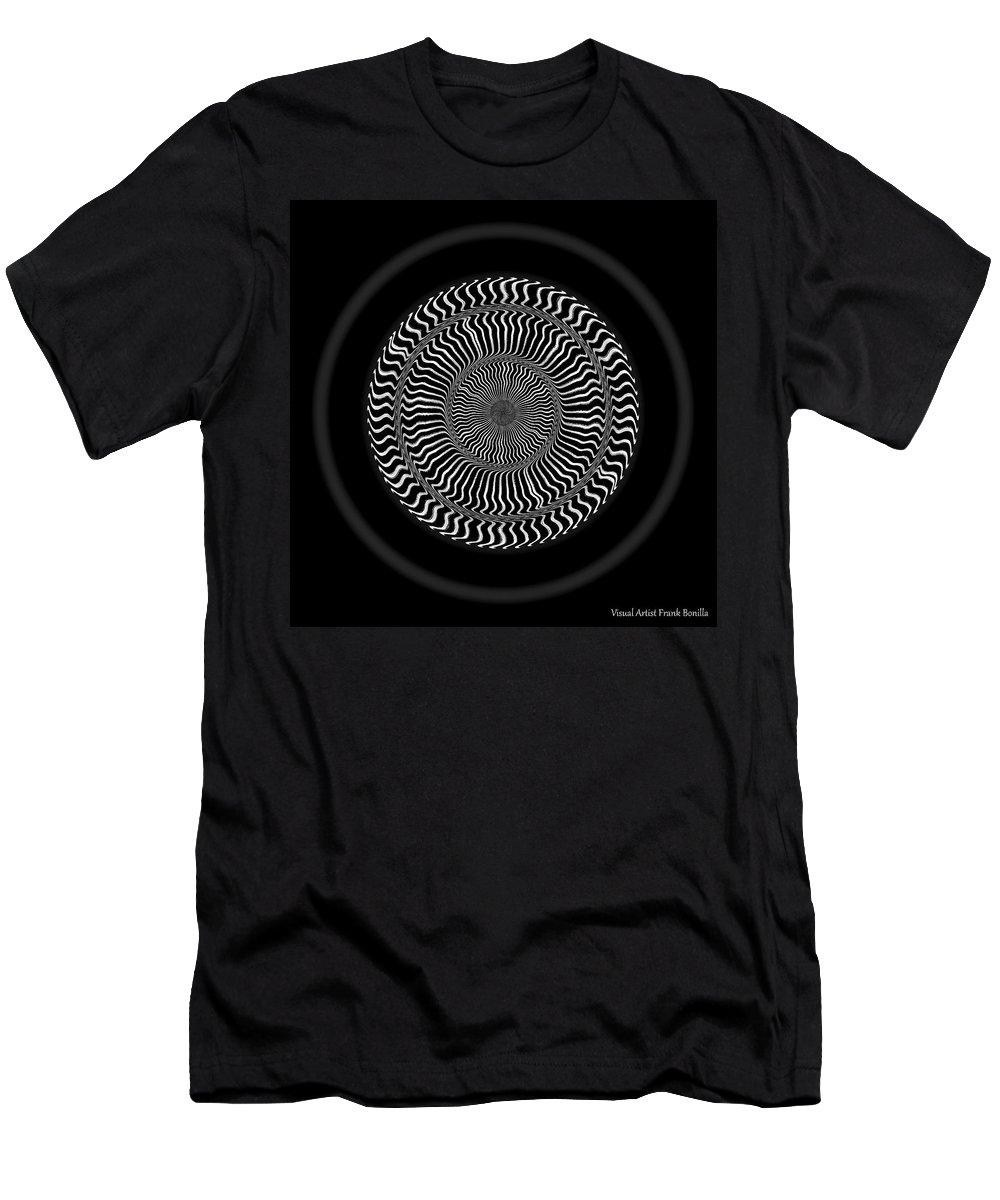 B&w Men's T-Shirt (Athletic Fit) featuring the digital art #0110201510 by Visual Artist Frank Bonilla