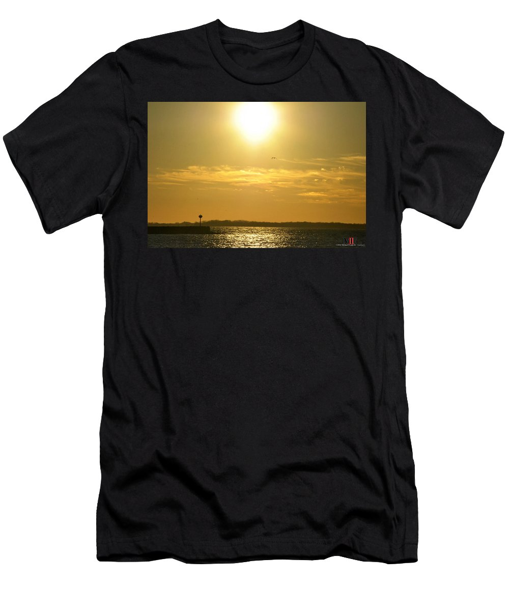 Buffalo Men's T-Shirt (Athletic Fit) featuring the photograph 08 Sunset 16mar16 by Michael Frank Jr