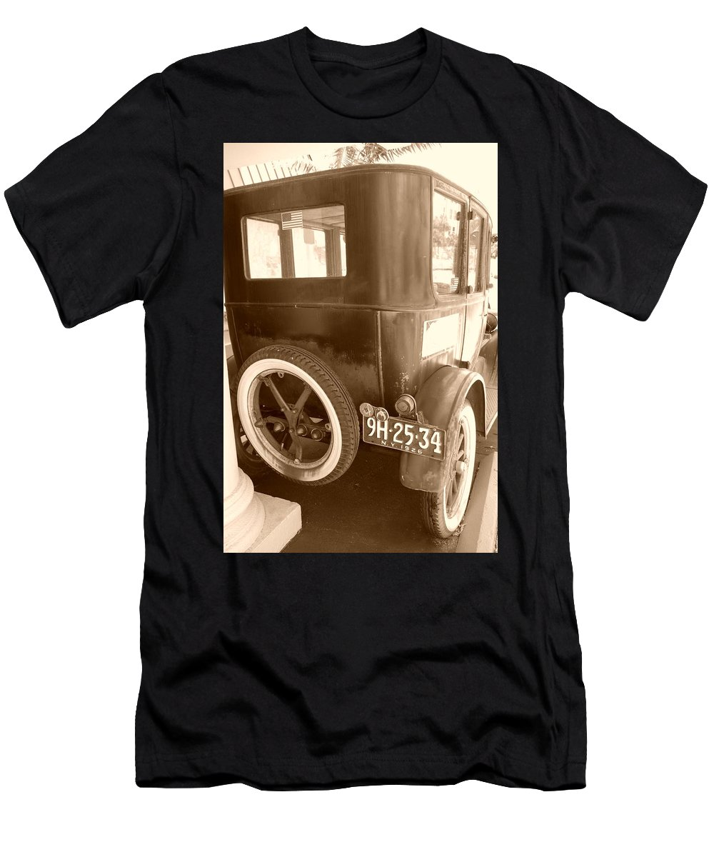 Sepia Men's T-Shirt (Athletic Fit) featuring the photograph 1926 Model T Ford by Rob Hans