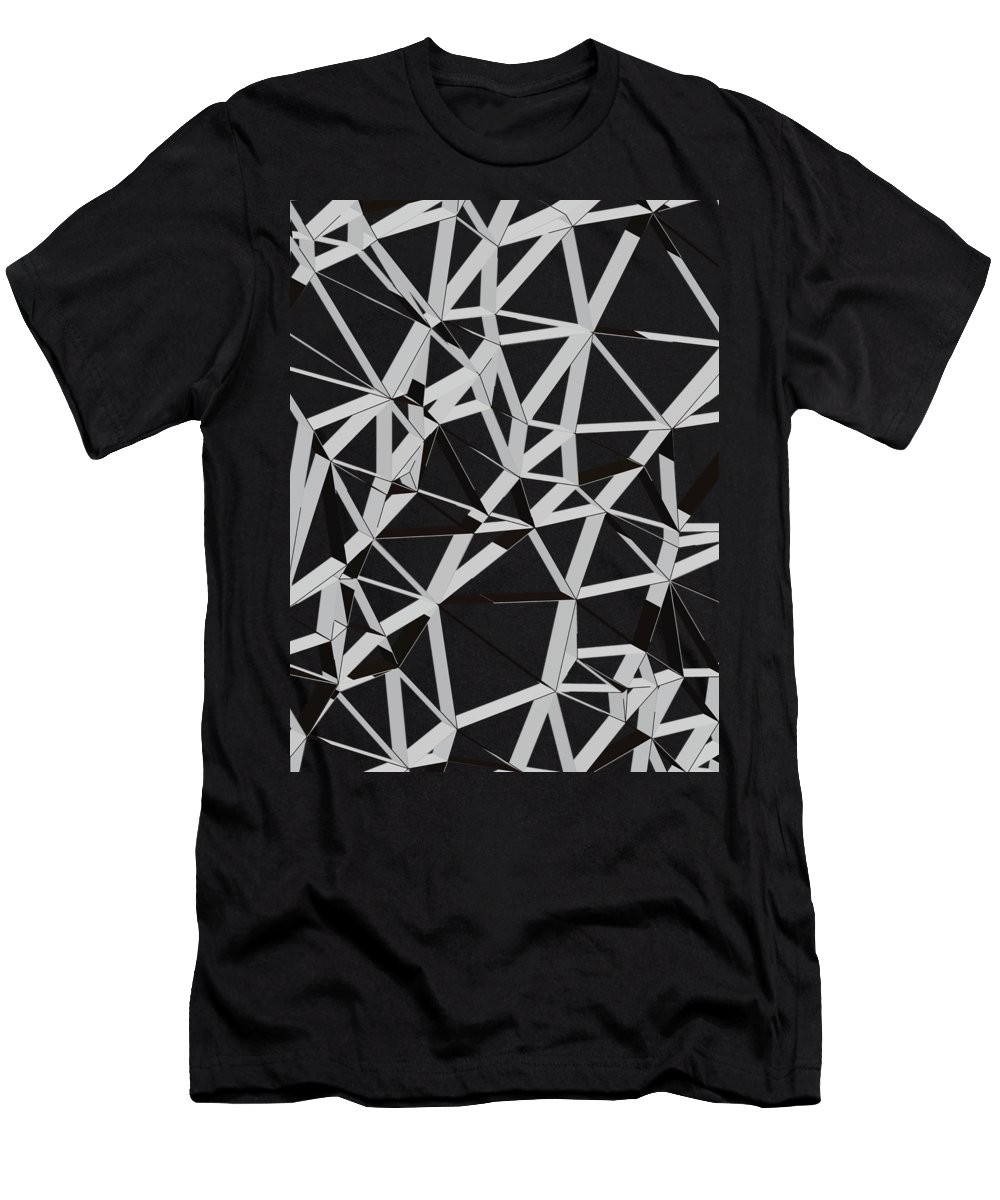 Abstract Men's T-Shirt (Athletic Fit) featuring the digital art 3d Futuristic Geo Lines 1 by Amir Faysal