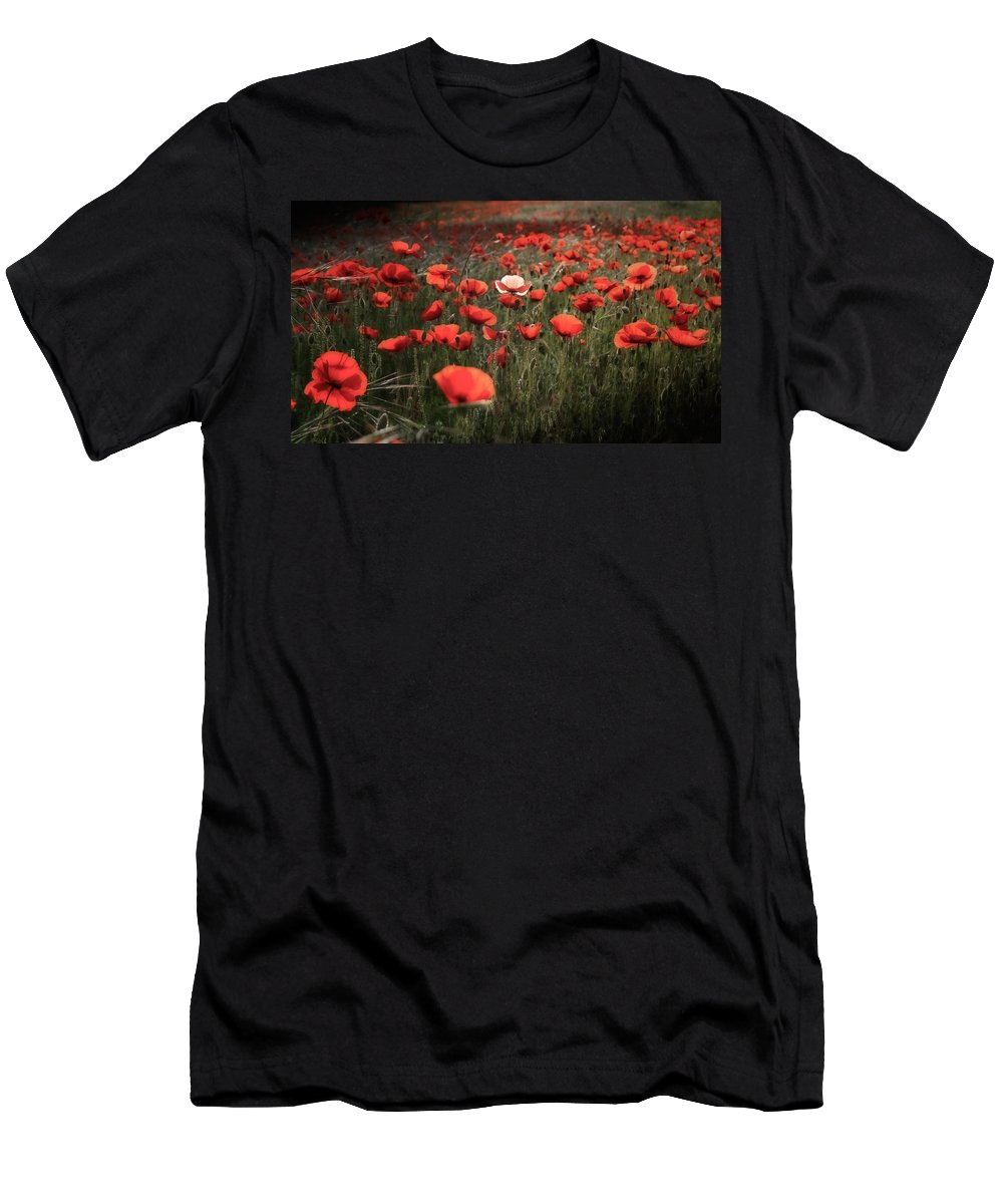 Field Men's T-Shirt (Athletic Fit) featuring the photograph A Little Different.... by Tanya Popove
