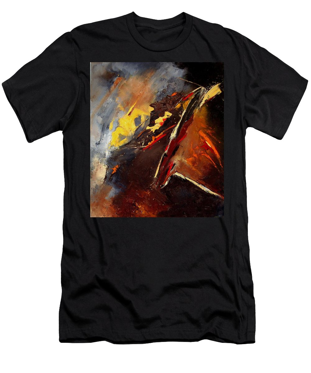 Abstract Men's T-Shirt (Athletic Fit) featuring the painting Abstract 12 by Pol Ledent