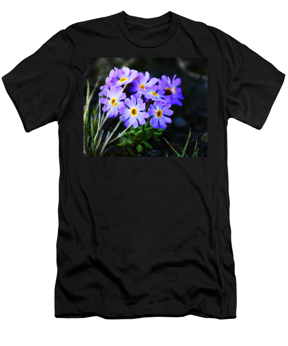 Flowers Men's T-Shirt (Athletic Fit) featuring the photograph Alaskan Wild Flowers by Anthony Jones