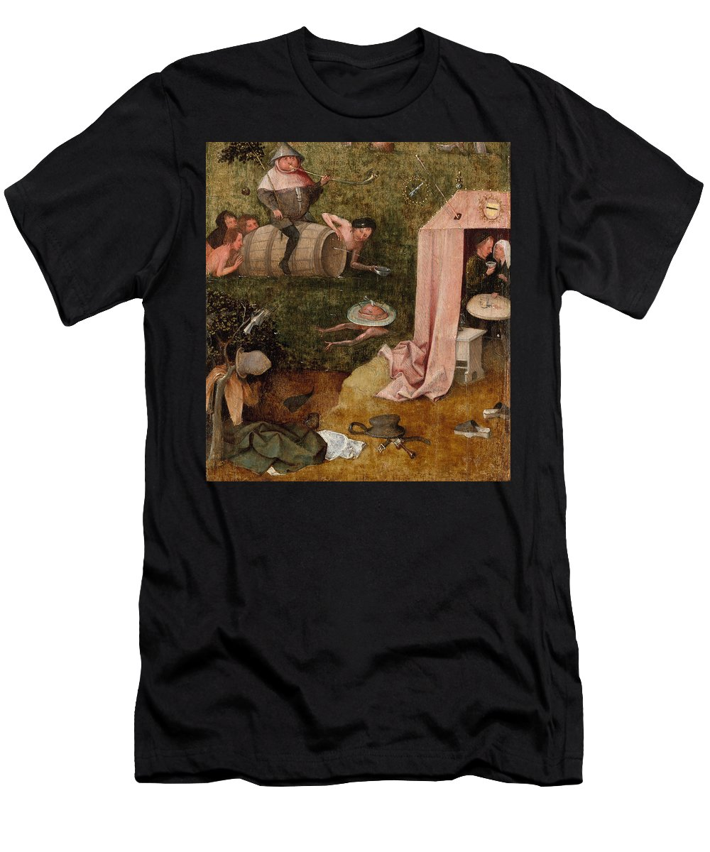 Allegory Men's T-Shirt (Athletic Fit) featuring the painting An Allegory Of Intemperance by Hieronymus Bosch