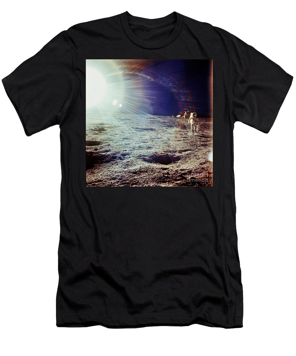 Apollo 12 Men's T-Shirt (Athletic Fit) featuring the photograph Apollo 12 Astronaut by Nasa