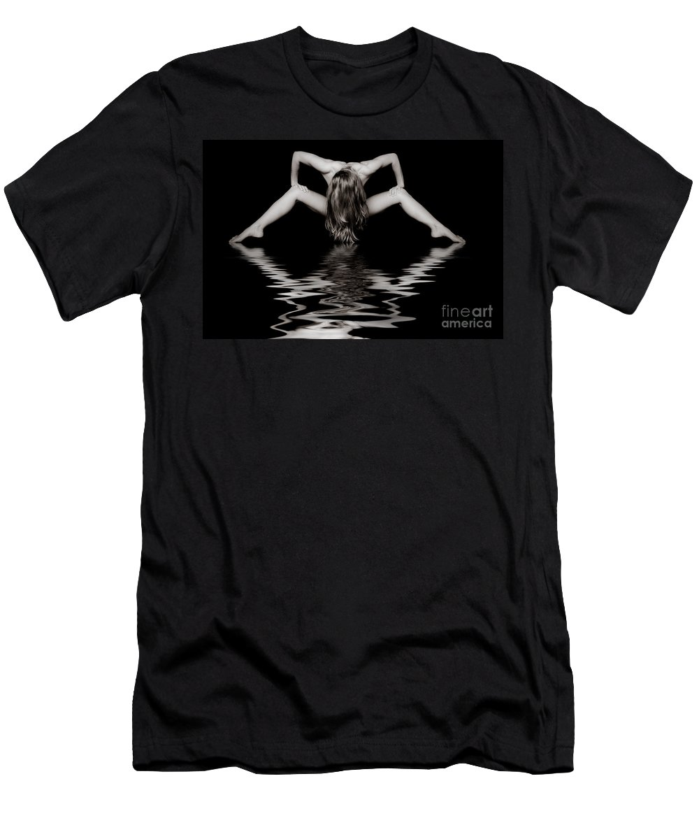 Art Men's T-Shirt (Athletic Fit) featuring the photograph Art Of A Woman by Jt PhotoDesign