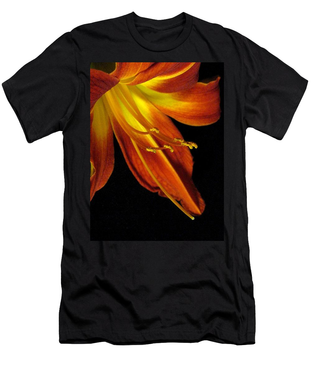 Red Men's T-Shirt (Athletic Fit) featuring the photograph August Flame Glory by Carolyn Jacob