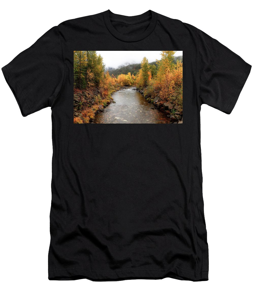 Autumn Men's T-Shirt (Athletic Fit) featuring the photograph Autumn Is In The Air by Athena Mckinzie