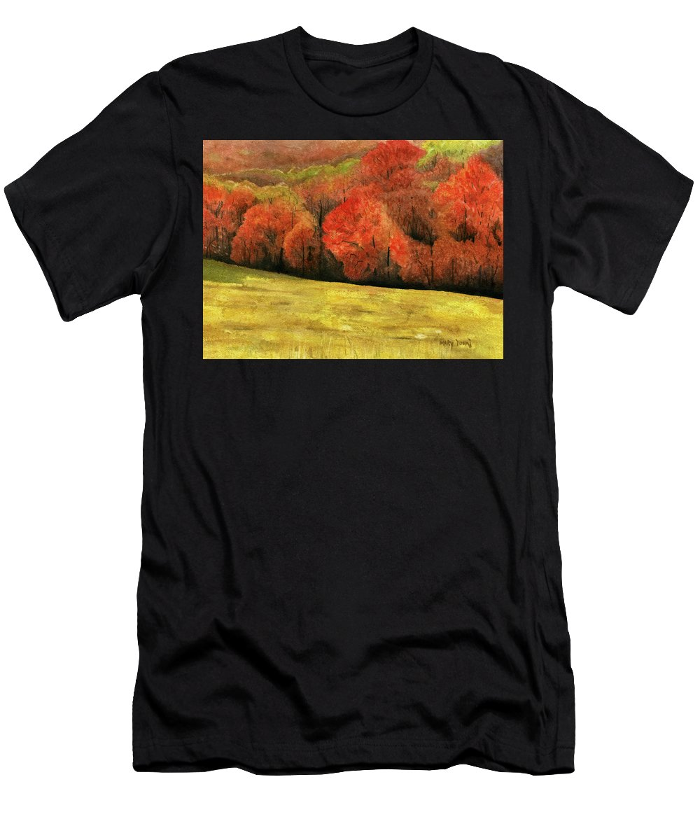 Autumn Men's T-Shirt (Athletic Fit) featuring the painting Autumn Splendor by Mary Tuomi