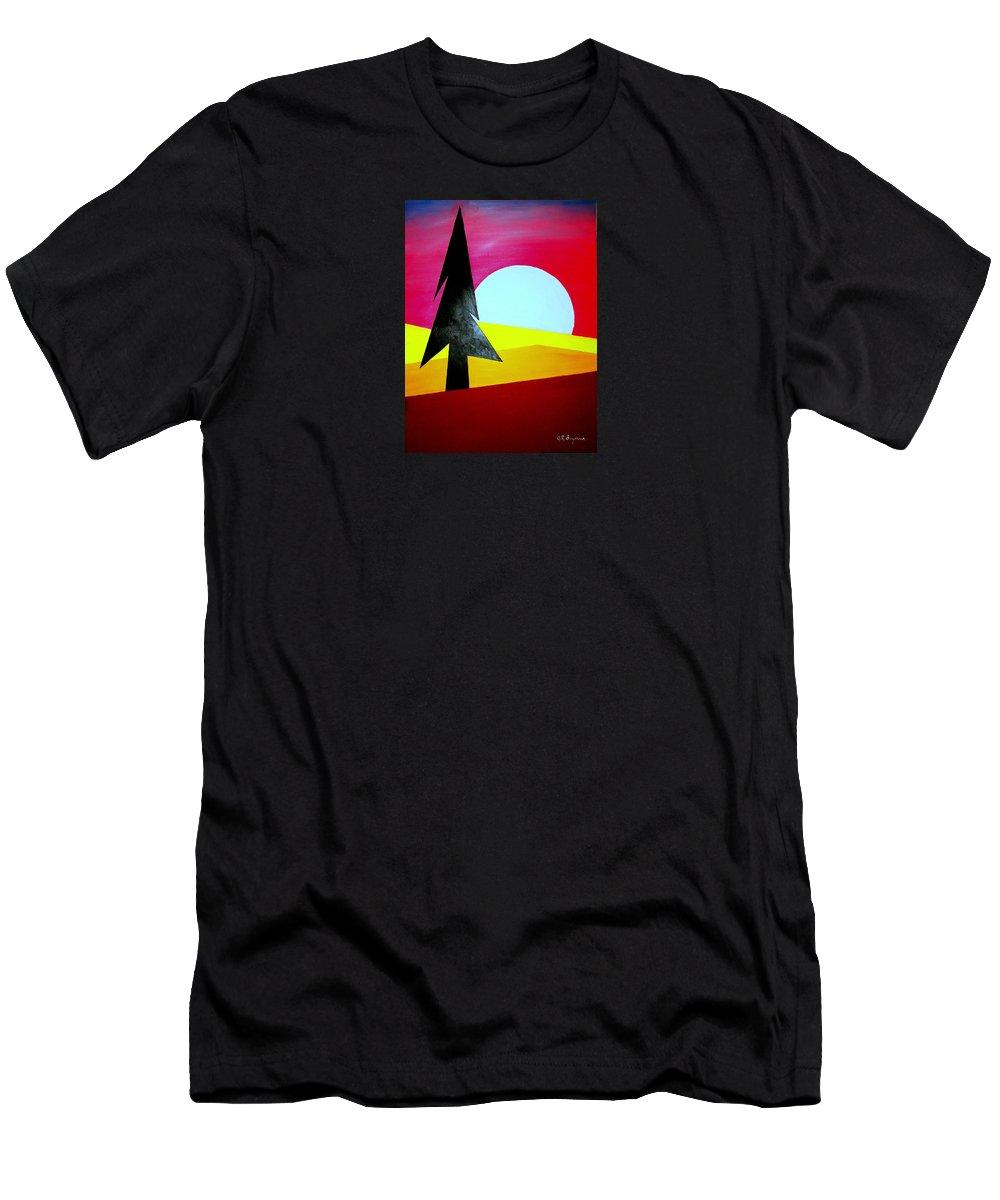 Moon T-Shirt featuring the digital art Autumn Moon Rise by J R Seymour