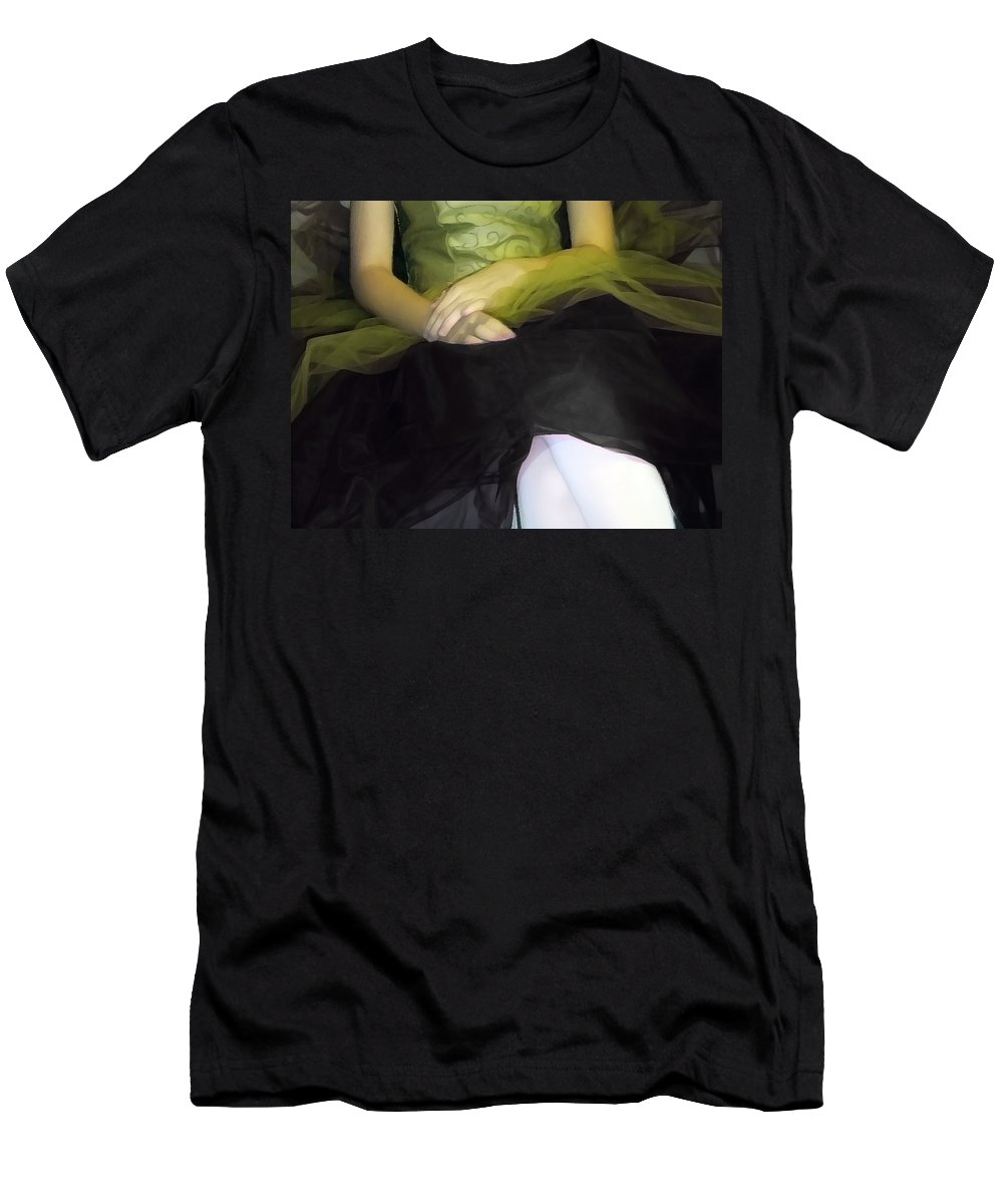 Abstract Men's T-Shirt (Athletic Fit) featuring the photograph Ballerina Lap 2 by Angelina Vick