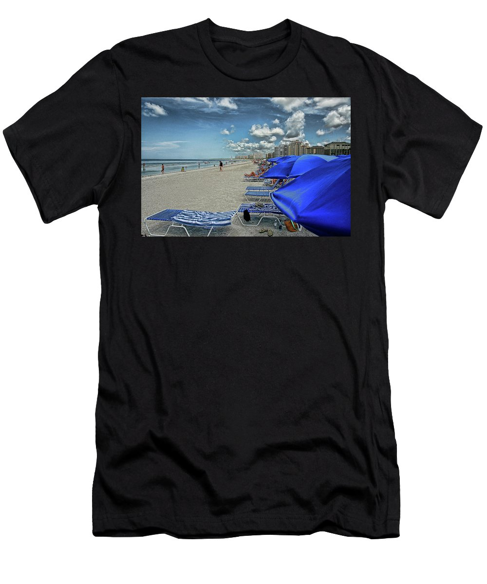 Beach Holiday Men's T-Shirt (Athletic Fit) featuring the photograph Beach Holiday by Artie Rawls