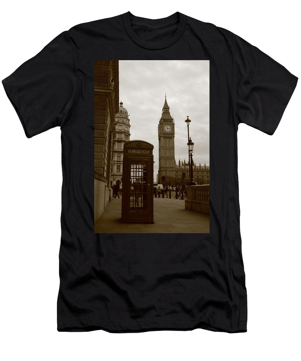 London Men's T-Shirt (Athletic Fit) featuring the photograph Big Ben by Trevor Sciara
