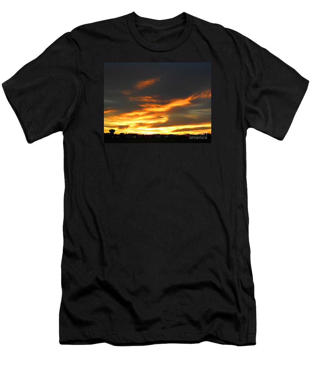 Sunset Men's T-Shirt (Athletic Fit) featuring the photograph Blazing Carolina Sunset by Matthew Seufer