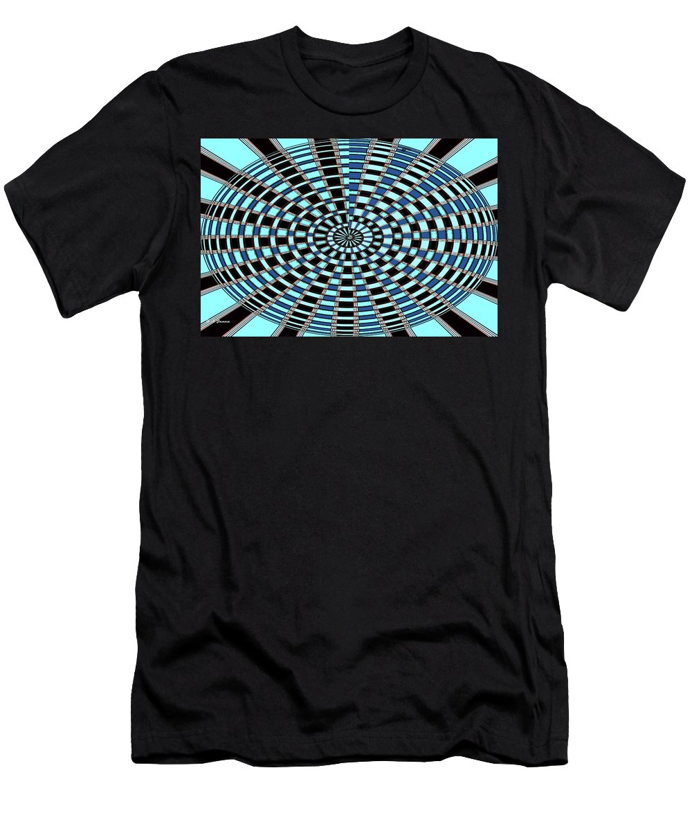 Blue And Black Abstract Men's T-Shirt (Athletic Fit) featuring the digital art Blue And Black Abstract by Tom Janca