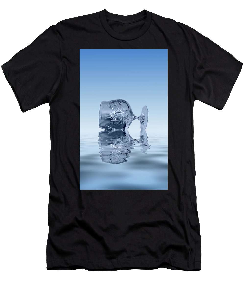 Glass Men's T-Shirt (Athletic Fit) featuring the photograph Blue Glass by David French
