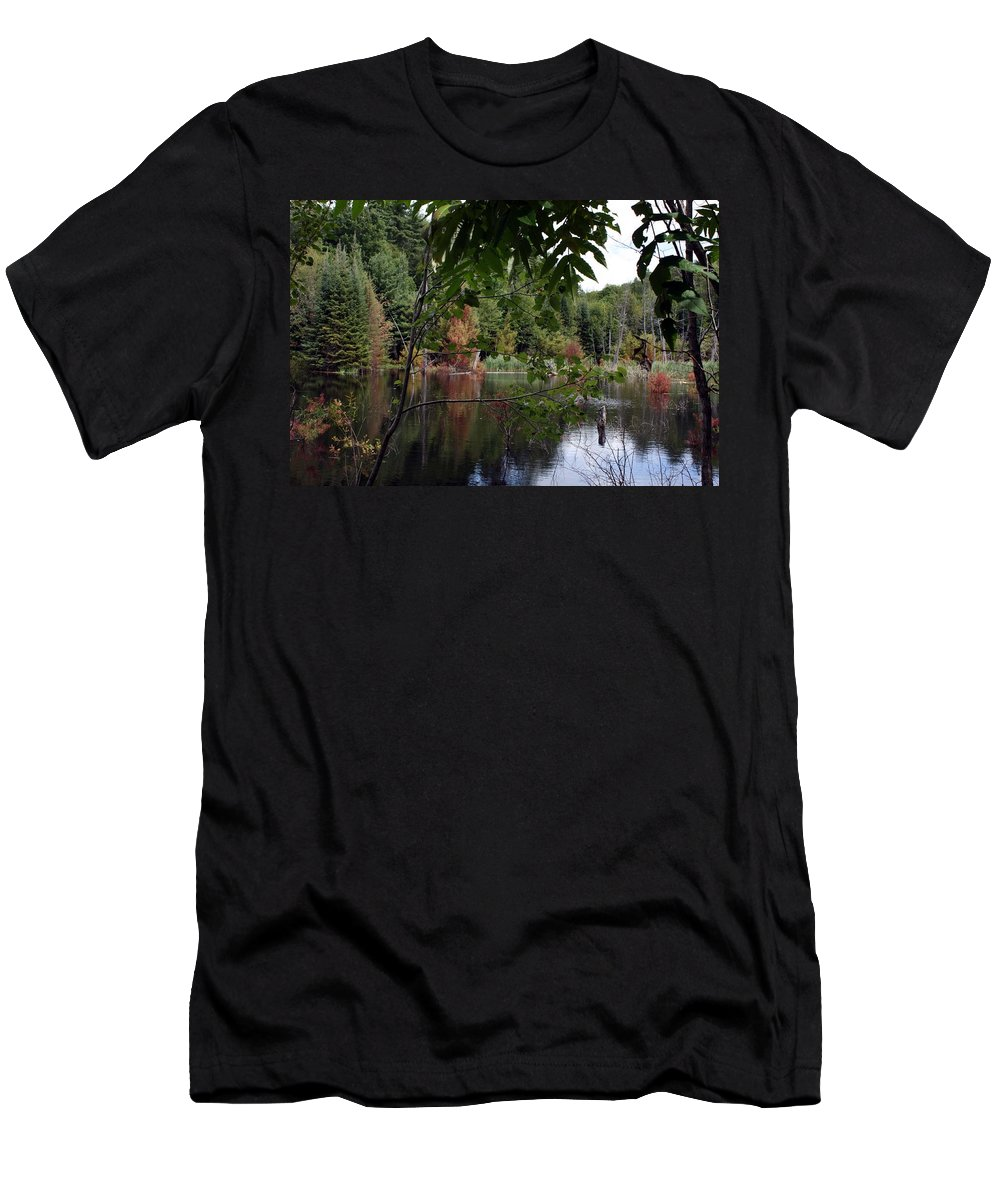 Landscape Men's T-Shirt (Athletic Fit) featuring the photograph Blueberry Mountain by Pat Purdy