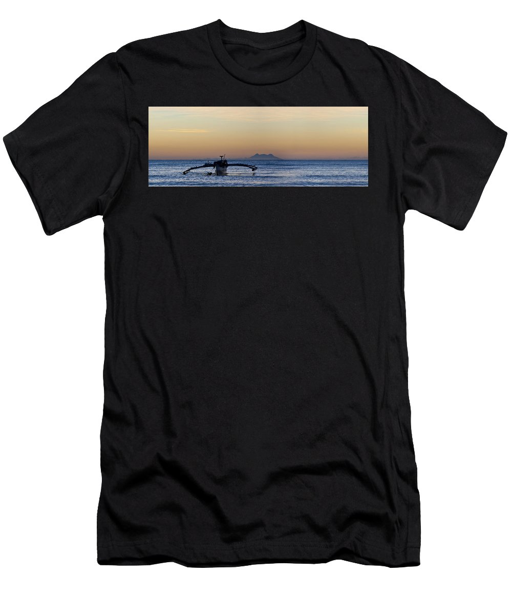 Panoramic Men's T-Shirt (Athletic Fit) featuring the photograph Boat by George Cabig