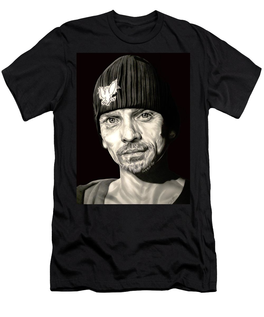 Breaking Bad Men's T-Shirt (Athletic Fit) featuring the drawing Breaking Bad Skinny Pete by Fred Larucci