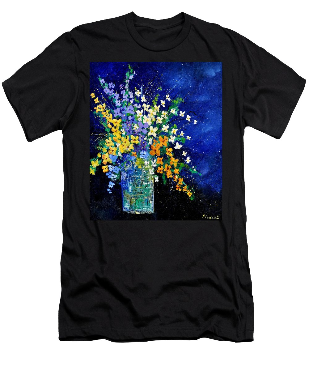Flowers T-Shirt featuring the painting Bunch 0140 by Pol Ledent