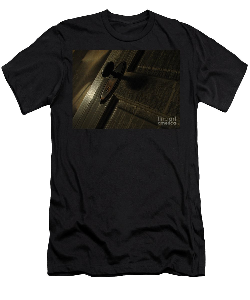 Ghostly Men's T-Shirt (Athletic Fit) featuring the photograph Burned Knob 02 by Peter Piatt