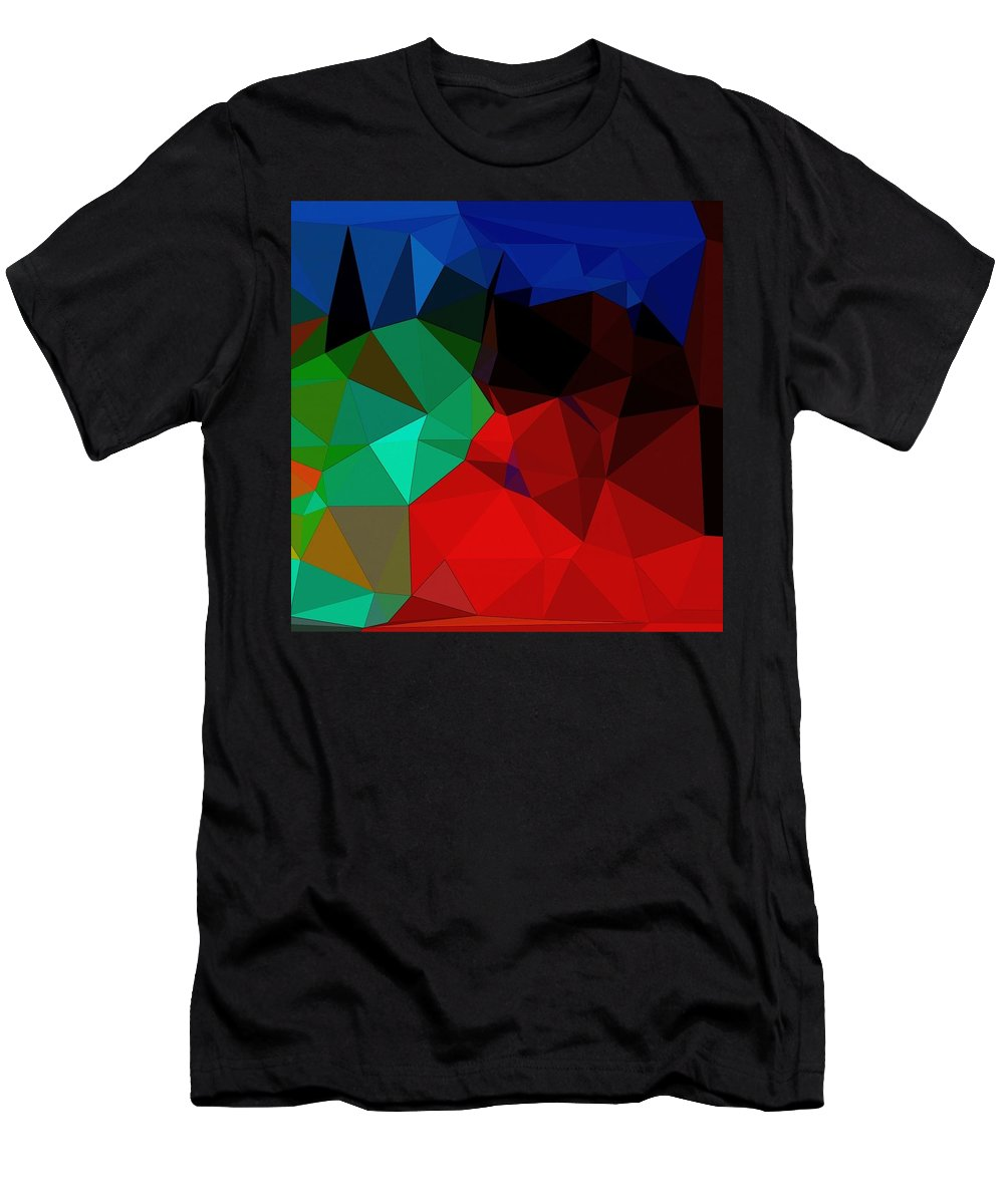 Digital Art Men's T-Shirt (Athletic Fit) featuring the digital art C Land by Juvenal Garza