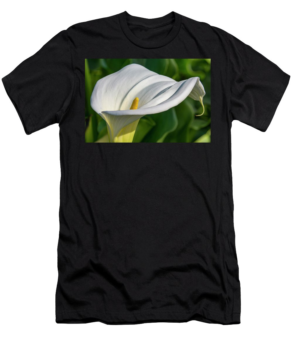 Flower Men's T-Shirt (Athletic Fit) featuring the photograph Calla Lily by Bruce Frye