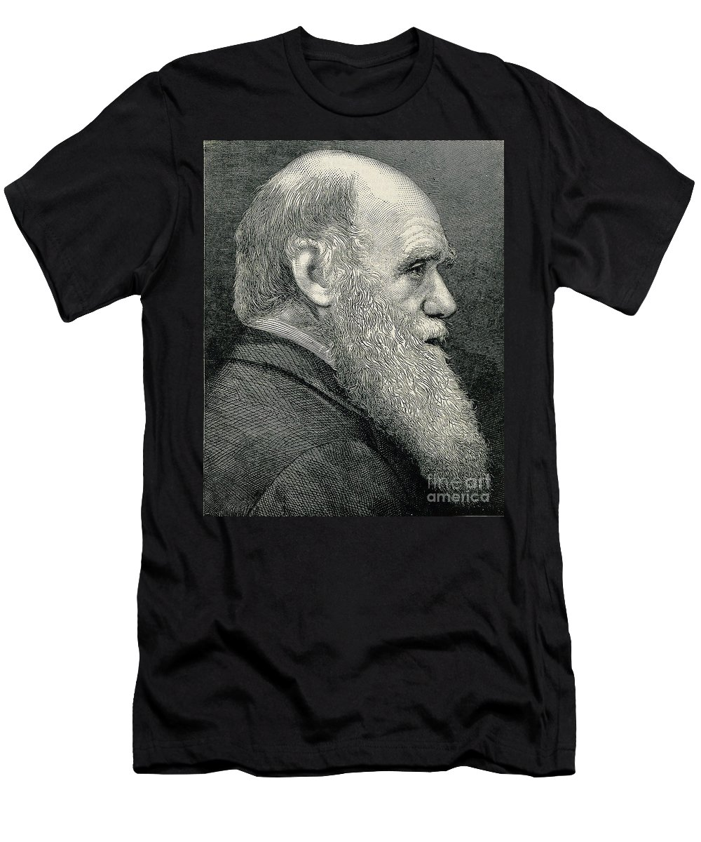 Historic Men's T-Shirt (Athletic Fit) featuring the photograph Charles Darwin, English Naturalist by Wellcome Images
