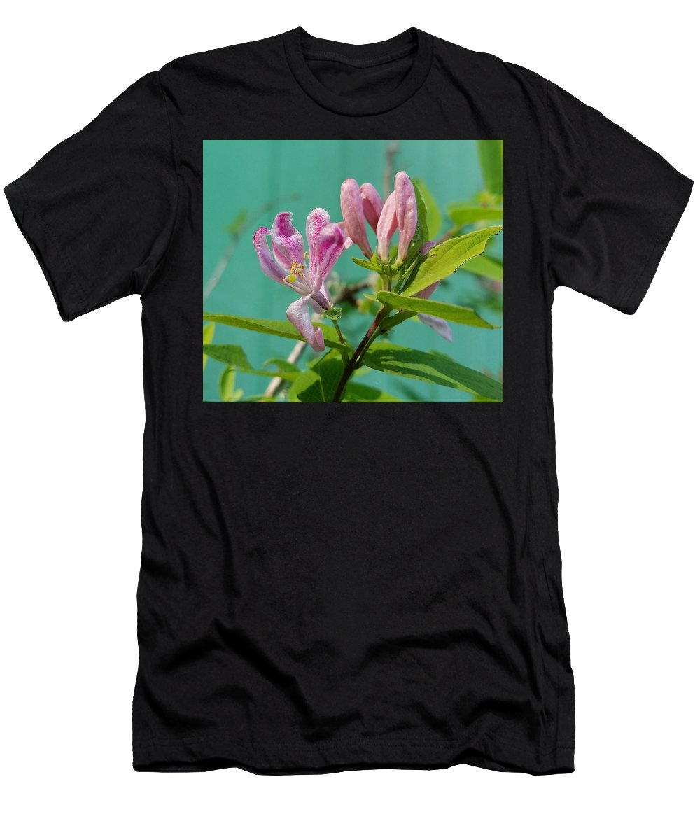 Chinese Honeysuckle Men's T-Shirt (Athletic Fit) featuring the photograph Chinese Honeysuckle by Teresa A Lang