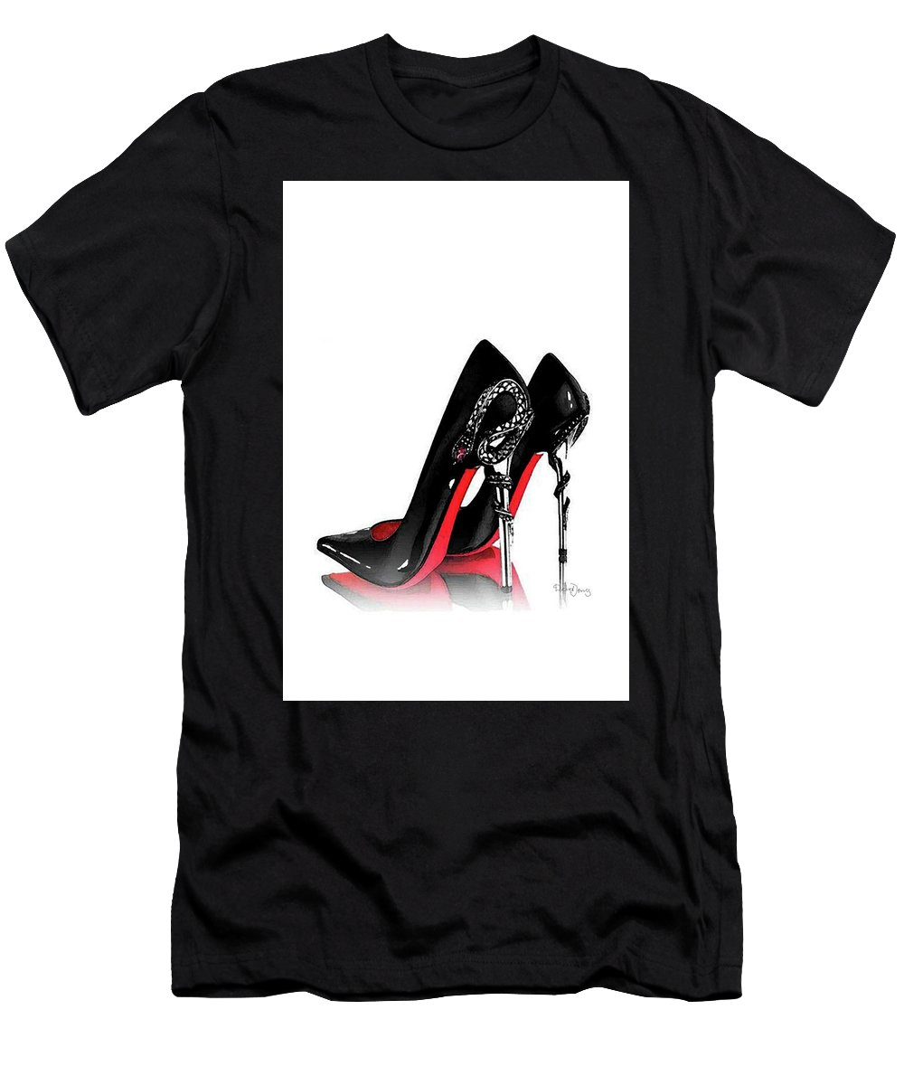 5bdde0627 Christian Louboutin Shoes Poster Men's T-Shirt (Athletic Fit) featuring the mixed  media