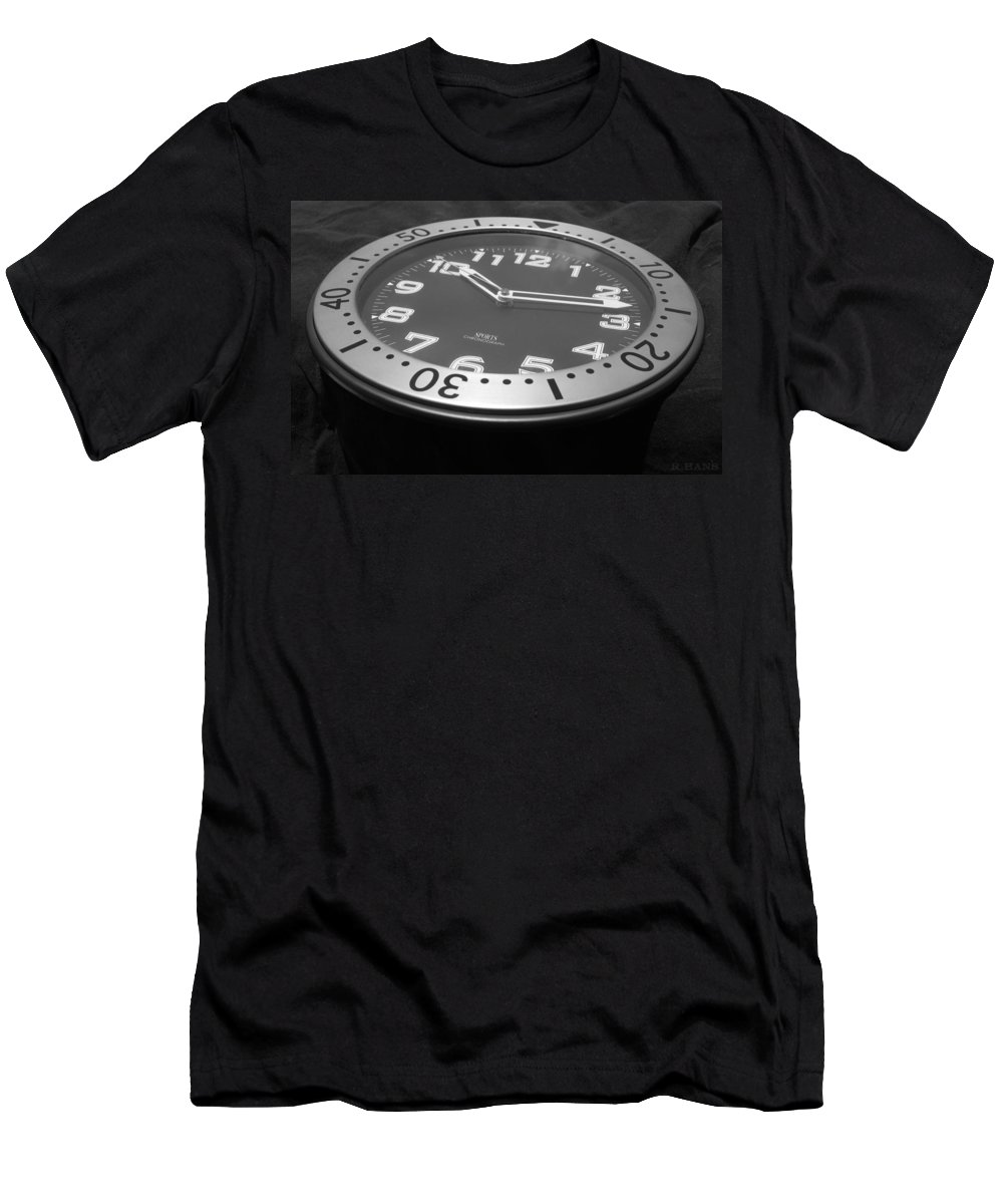 Clock Men's T-Shirt (Athletic Fit) featuring the photograph Clock Face by Rob Hans