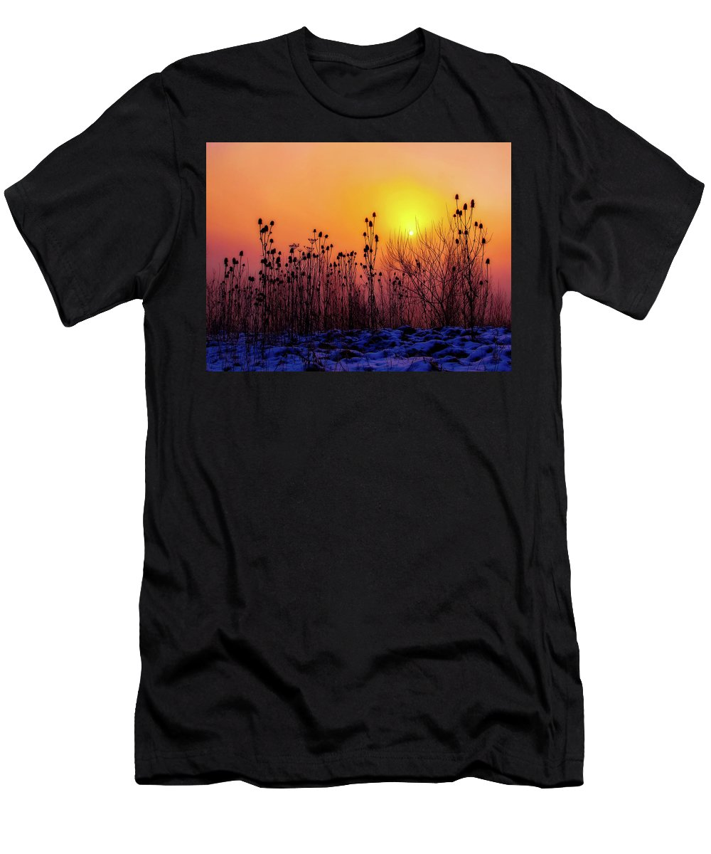 Cold Men's T-Shirt (Athletic Fit) featuring the photograph Cold Silence by Pixabay