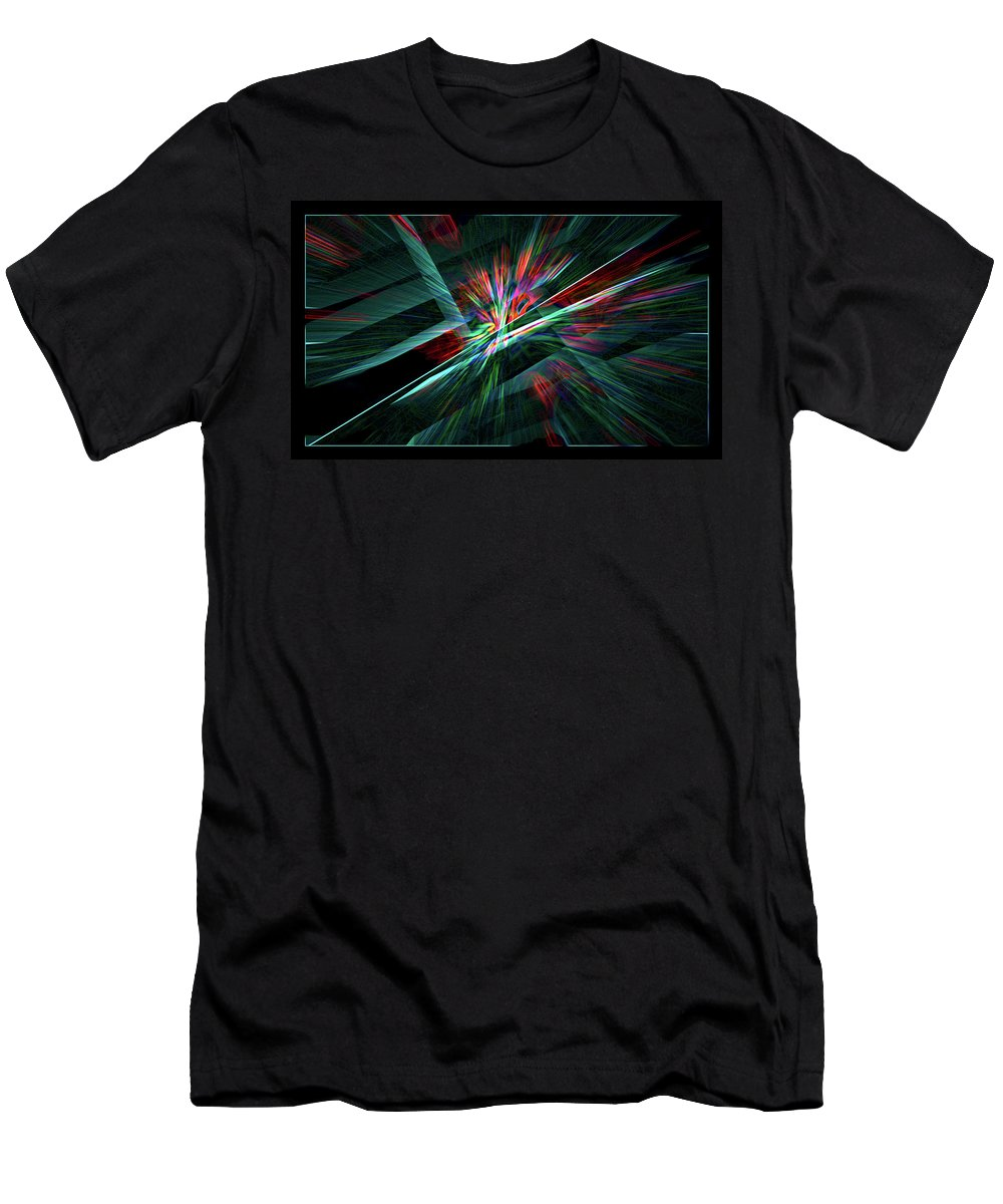 Abstract Men's T-Shirt (Athletic Fit) featuring the digital art Color Burst by Chris Brannen