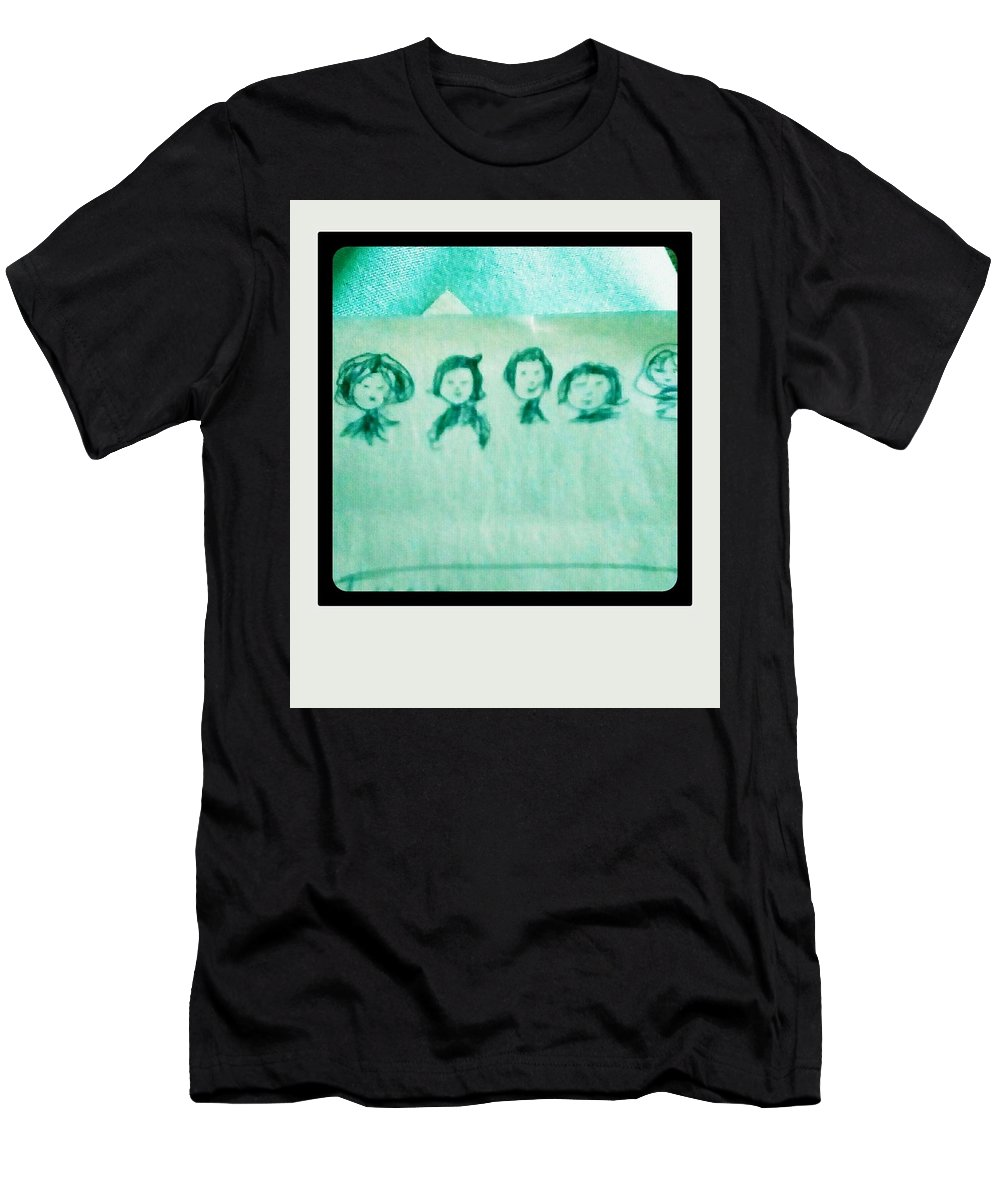 People Men's T-Shirt (Athletic Fit) featuring the drawing Color Prints by Rjmeaa Enra