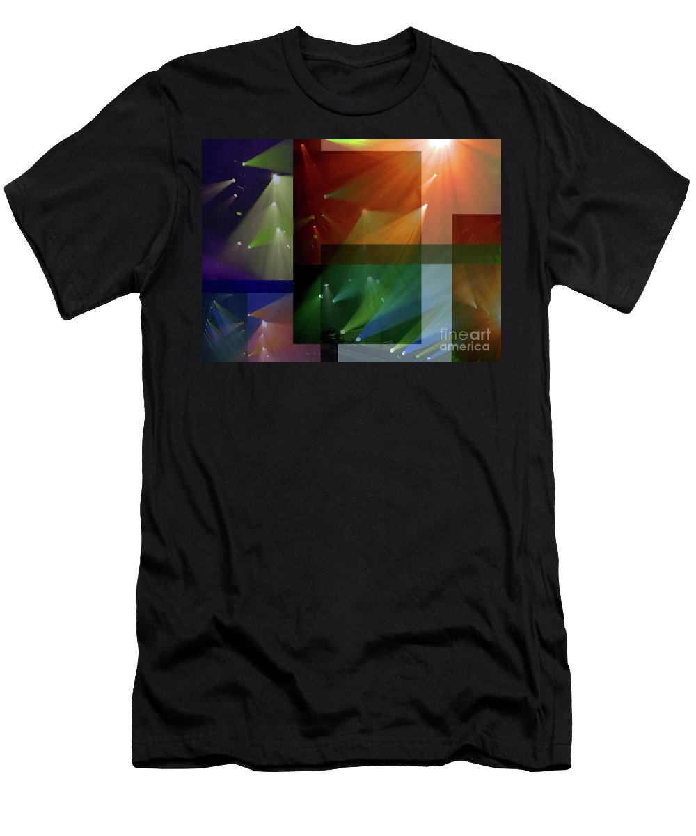 Coloured Lights Ii Men's T-Shirt (Athletic Fit) featuring the photograph Coloured Lights II by Robert Meanor