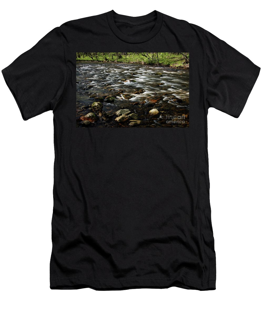 Nature Men's T-Shirt (Athletic Fit) featuring the photograph Creek, Smoky Mountains, Tennessee by Stanton Tubb