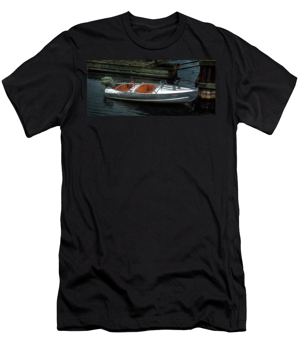 Aluminum Men's T-Shirt (Athletic Fit) featuring the photograph Cute Boat - 1948 Feather Craft by John Herzog