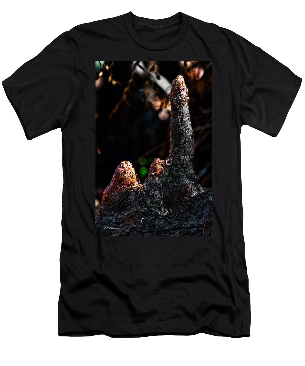Nature Men's T-Shirt (Athletic Fit) featuring the photograph Cypress Knees by Christopher Holmes