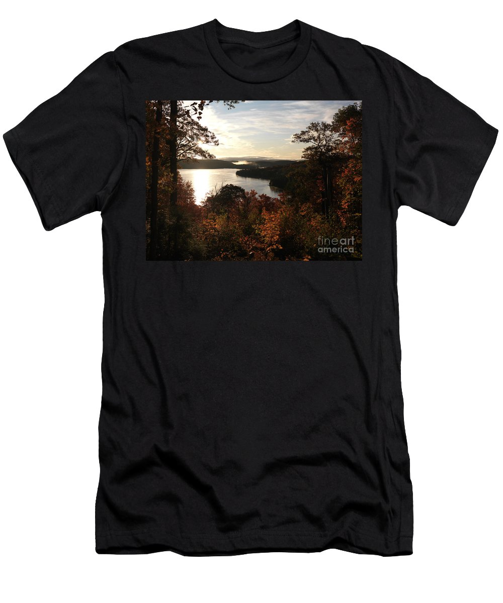 Autumn Men's T-Shirt (Athletic Fit) featuring the photograph Dawn At Algonquin Park Canada by Oleksiy Maksymenko