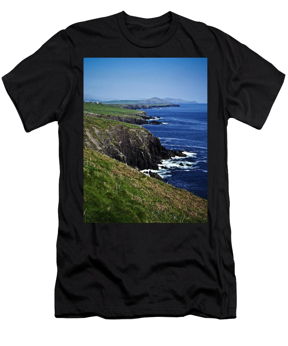 Irish Men's T-Shirt (Athletic Fit) featuring the photograph Dingle Coastline Near Fahan Ireland by Teresa Mucha