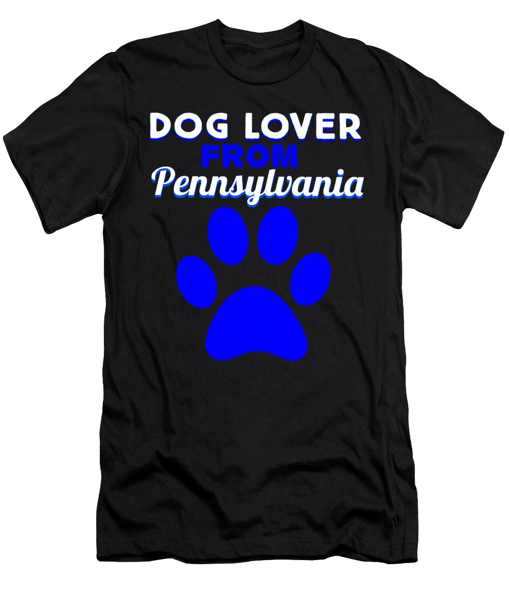 Beagle T-Shirt featuring the digital art dogloverPennslyvania by Kaylin Watchorn