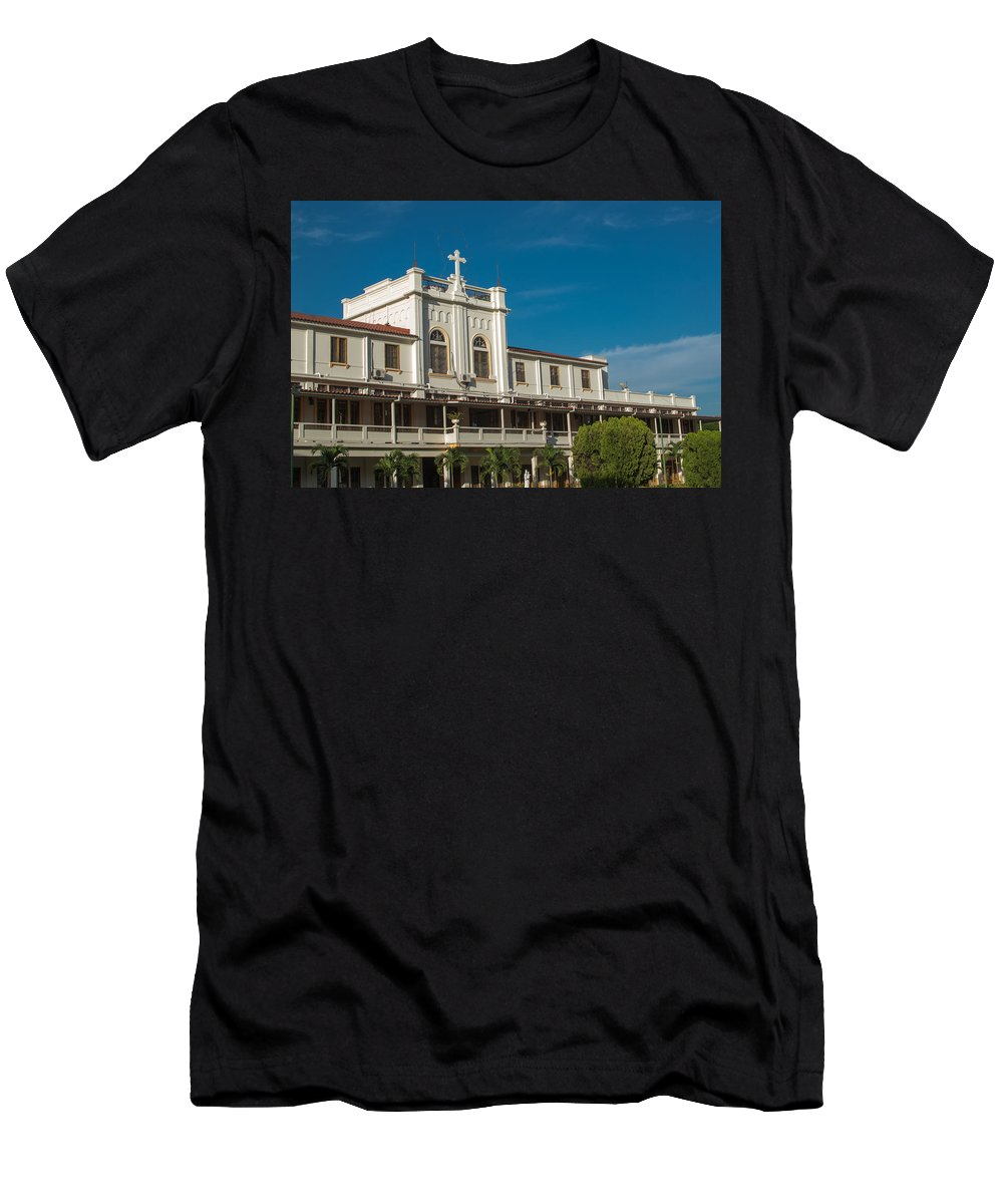 Iglesia Maria Auxiliadora Men's T-Shirt (Athletic Fit) featuring the photograph Don Rua - San Salvador IIi by Totto Ponce