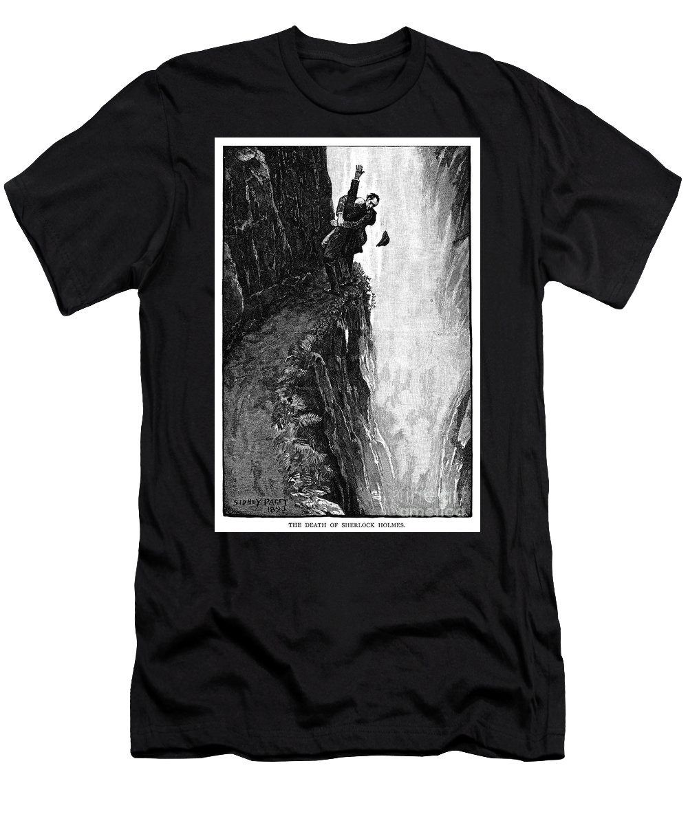 1893 Men's T-Shirt (Athletic Fit) featuring the photograph Doyle: Sherlock Holmes by Granger