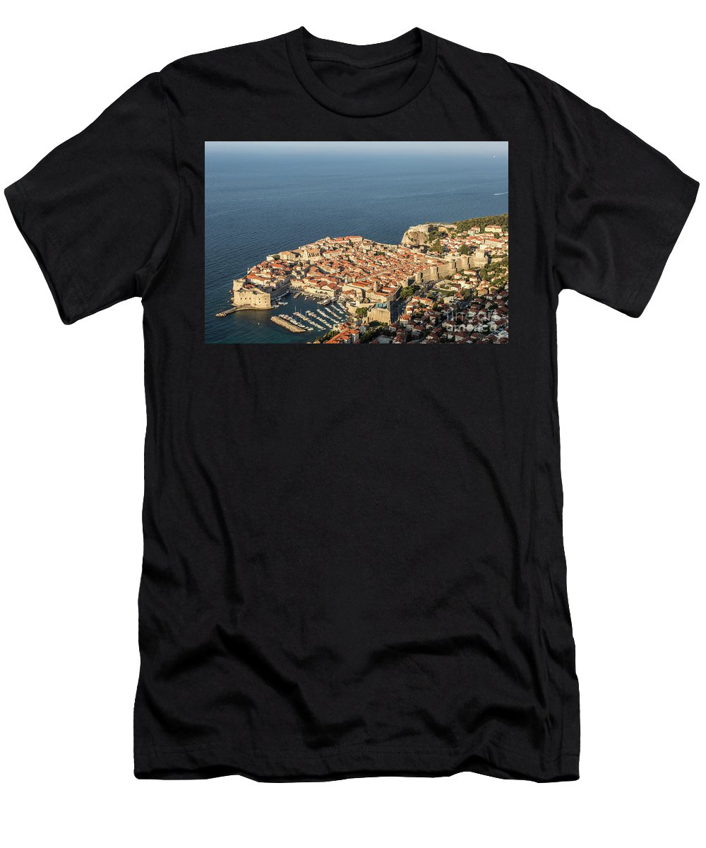 Ancient Men's T-Shirt (Athletic Fit) featuring the photograph Dubrovnik And The Adriatic Coast In Croatia by Didier Marti