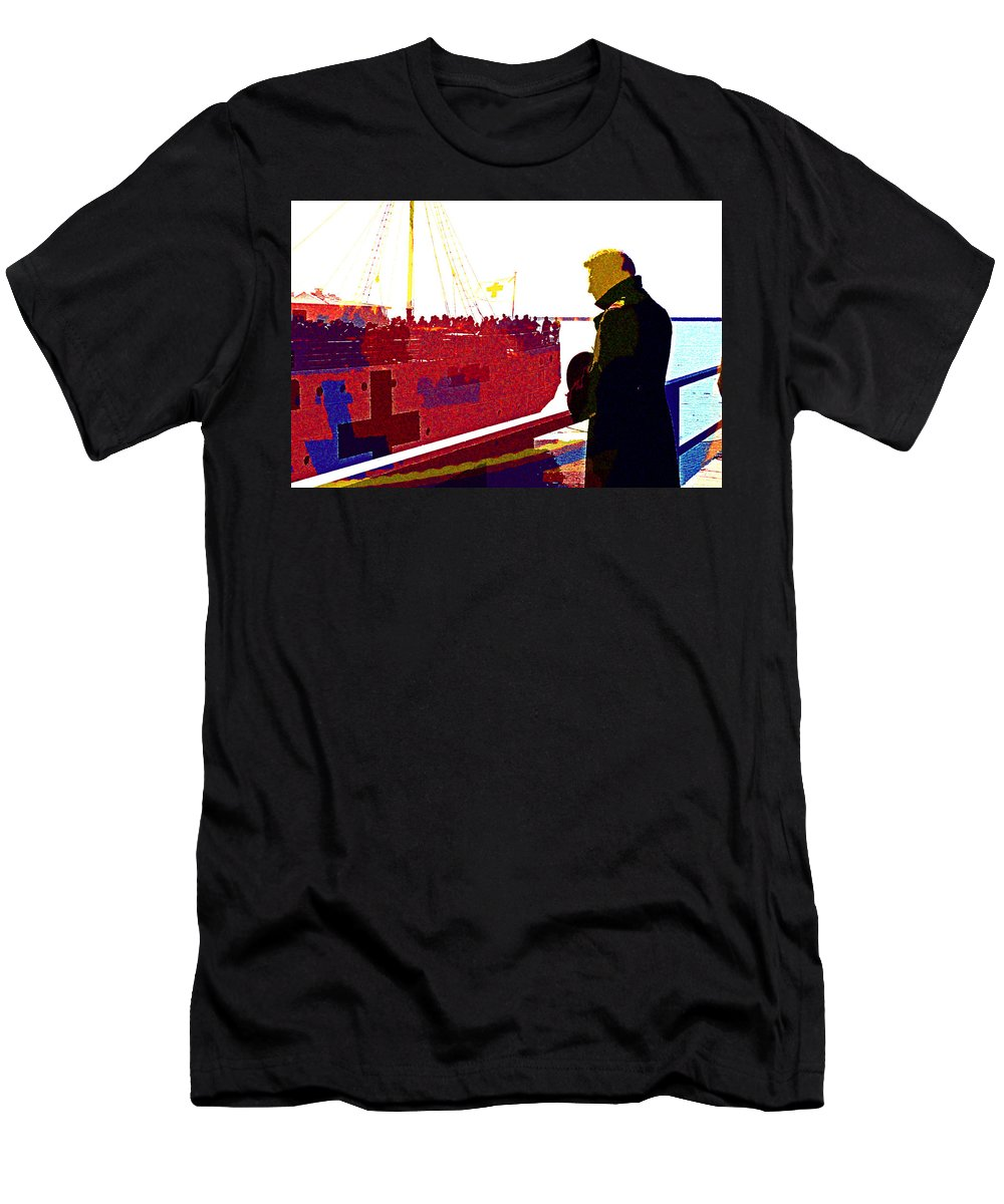 Dunkirk Men's T-Shirt (Athletic Fit) featuring the digital art Dunkirk by Lora Battle