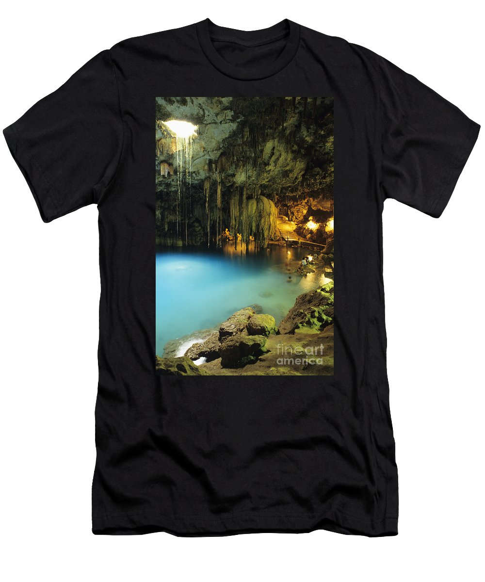 Beautiful Men's T-Shirt (Athletic Fit) featuring the photograph Dzitnup Natural Well by Bill Schildge - Printscapes