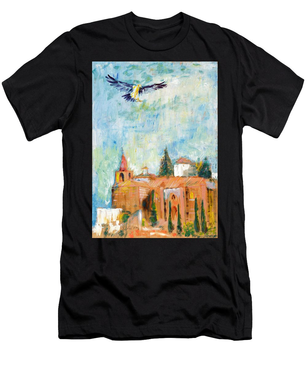 Men's T-Shirt (Athletic Fit) featuring the painting Eagle by Fernando Bolivar